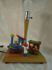 Cute Vintage Musical Train Lamp 1979 Nursery Originals - for baby or child