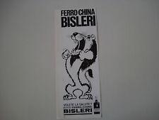 advertising Pubblicità 1968 FERRO CHINA BISLERI