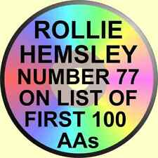 ROLLIE HEMSLEY #77 of THE FIRST 100 AAs 1968 ALCOHOLICS ANONYMOUS TALK 1 CD