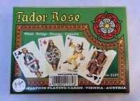 Tudor Rose Whist Bridge Rummy Canasta Playing Cards Vienna Austria No. 2137