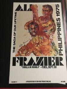 1975 Original THRILLA IN MANILA BOXING POSTER! Joe Frazier! MUHAMMAD ALI! MINT!