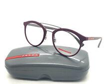 NEW AUTHENTIC PRADA SPORT VPS 01H VYX-1O1 Bordeaux Rubber Eyeglasses 52mm 21 140