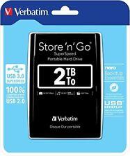 "Verbatim 2 TB Portable Store'n'Go Hard Drive USB 3.0 2.5"" HDD"