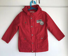 Vertbaudet girls/boys unisex red hooded coat parka size 6 years 114 cm