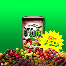 Get All Day Energy Delicious Greens 8000 New Chocolate 50+ Veggies  /Fruits