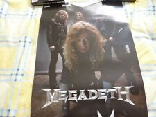 MEGADETH TH1RT3EN DOUBLE SIDED  ALBUM PROMO POSTER  WITH FREE UK POSTAGE