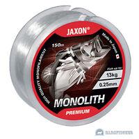 150m ANGELSCHNUR JAXON MONOLITH PREMIUM, ALLROUND MONOFILE SCHNUR TRANSPARENT BF