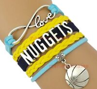 Denver Nuggets Infinity Jewelry Bracelet NBA Basketball Charm BRAND NEW