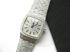 Belmar NY Usa Sterling Midsize 70s Ladies Bracelet Watch 44.4g  Working Well