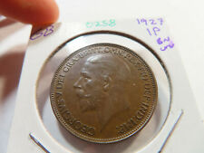 O258 Great Britain 1927 Penny Brown UNC