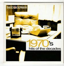 (GX396) 1970's Hits Of The Decades, 8 tracks various artists - Daily Express CD