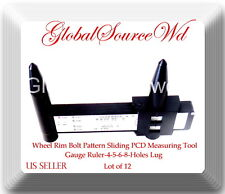 LOT 12 Pcs RIM BOLT PATTERN MEASURING TOOL GAUGE PCD RULER / UNIVERSAL PCD GAUGE