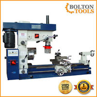"""Bolton Tools 12"""" x 30"""" Metal Lathe Mill Drill Milling Combo Machine AT750"""
