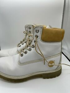 Timberland Limited Release Milk & Cookies Boots White And Tan/gold Size 7.5 m