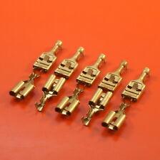 "10 x 9.5mm (3/8"") Uninsulated Female Brass Spade Terminals"