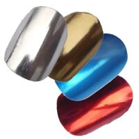 Chix Nails - Chrome lightning design nail wraps foils - Gold Silver Red Blue