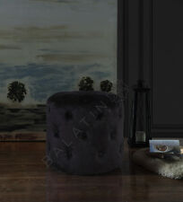 More details for new velvet tufted round stool deep buttoned sale now on do not miss out!