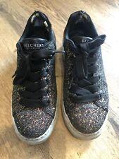 Sketchers Los Angeles Kids Glitter Sparkle Trainers Shoes Size 6 UK