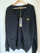Lyle And Scott Lambswool Cardigan Black Size XL BRAND NEW WITH TAGS