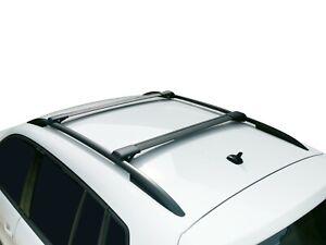 Aero Alloy Roof Rack Slim Cross Bar for BMW X5 E70 2008-13 Lockable Black