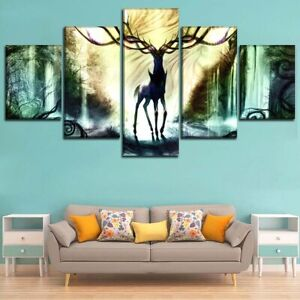 Pokemon Deer Posters Canvas Print Painting Home Decor Wall Art No Frame 5 Pieces
