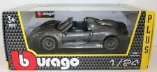 Véhicules miniatures gris moulé sous pression pour Porsche