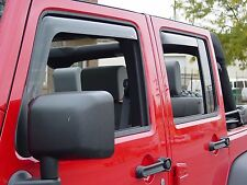 In-Channel Wind Deflectors for a 2007 - 2016 Jeep Wrangler Unlimited