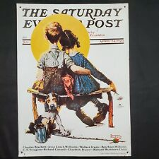Vintage Norman Rockwell The Saturday Evening Post April 24, 1926 Tin Sign