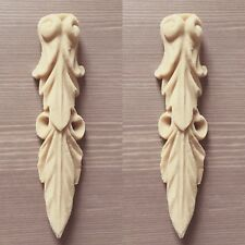 Pair unpainted Furniture  Corbel Scroll  Decoration Applique Moulding Pediment