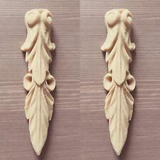 Pair unpainted Furniture  Corbel Scroll  Decoration Applique Moulding Pediment