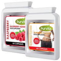 60 Raspberry Ketone Plus 60 Colon Cleanse Diet Weight Loss Slimming Diet Pills