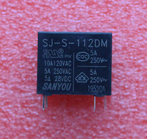 10pcs SJ-S-112DM 12V 4pins Relay