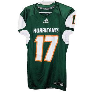 "NEW Adidas Miami Hurricanes ""THE U"" Unworn #17 JACKSON Supreme Jersey (SZ Large)"