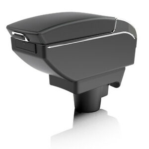 For Vauxhall Astra H MK5 2004-2008 Leather Sliding Dual Layer Armrest Cup Holder