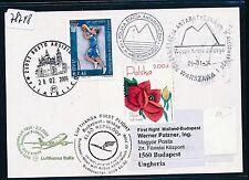 78748) LH FF Mailand Italien - Budapest 2.3.2009, Karte ab Polen SP Antarktis