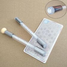 HK- Nail Art Brush Pen Sponge Dual Head Washable Transfer Printing Template Tool