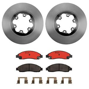 Front Brake Disc Rotors Ceramic Pads Kit Brembo For Chevy Colorado Canyon Isuzu