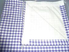 "VW T2 Bay, split screen Camper van purple, white  1/4"" check curtains (lined)"
