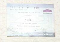 MUSE Concert Ticket Stub From 2006 Wembley Arena Seat 189 Concert Memorabilia