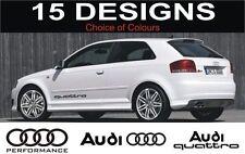 AUDI a3 s3 a4 s4 a6 s6 a2 Audi Quattro Calcomanías Pegatinas logotipos de descuento de 2