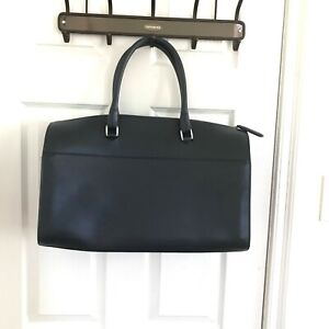 ROYCE Travel Duffel Bag RFID Security Carry on Navy Saffiano Leather, $500