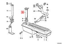 Genuine BMW E30 Coupe Metal Fuel Tank Sending Unit Assembly OEM 16141154627