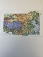 1994: Maps of China & India Pakistan Sri Lanka & Burma Original Print