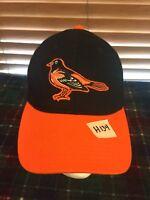 Men's NEW TWINS ENTERPRISE Orioles Black Orange Adjustable Hat H134