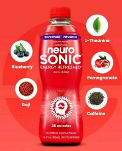 Neuro Sonic Energy Refreshed Drink Superfruit Infusion 14.5 oz ( Pack of 6 )