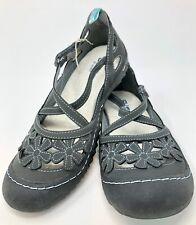 Jambu Women's BLOSSOM VEGAN Charcoal Flower Shoes Size 8M