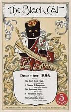 CAT, CHAT, KATZE, BLACK CAT, TWELFTH NIGHT, MAGAZINE COVER, 1896, MAGNET