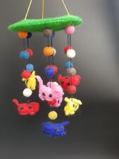 Children/baby Room/cot decoration Handcrafted Felt hanging and mobile(puppy)