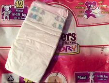 Vintage Pampers Phases Baby-Dry Diaper for Girls size Maxi UK Import *Rare*
