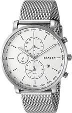 Skagen Men's SKW6301 'Hagen World Time Alarm' Chronograph Stainless Steel Watch